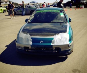 Taped up head lights