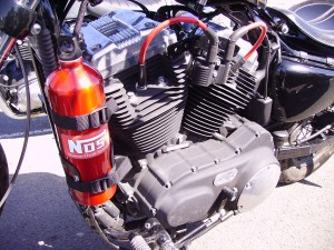 Motorcycle with Nitrous Oxide