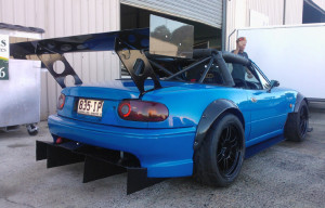 SR20 Time Attack MX5 Rear End