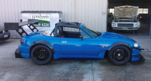 SR20 Time Attack MX5 Side View