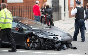 Aventador Collision in London (Left SIde)