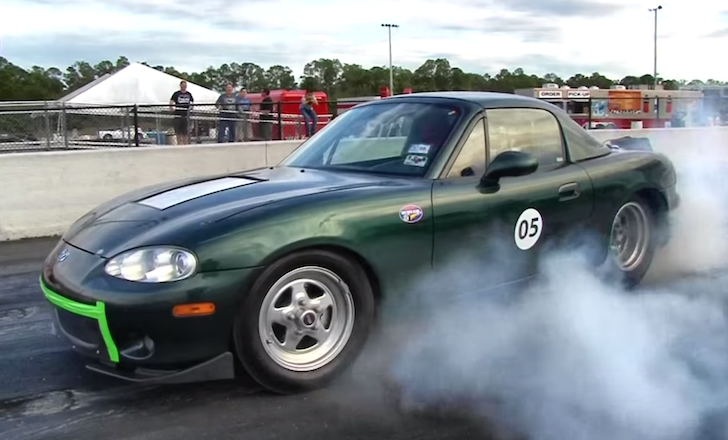 Electric Mx5 burnout